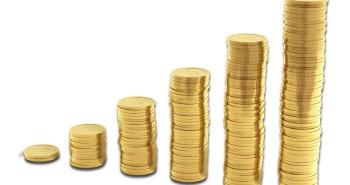 Pilha crescente de moedas (+ rentabilidade com LCI)