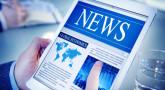 Hands Holding Digital Tablet Global Economics News