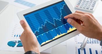 análises finaceiras gráfico no ipad